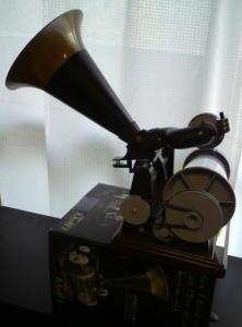 新エジソン式蓄音機作りました~。