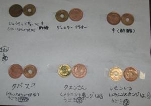10円玉と5円玉、どれが一番きれいになったかな?